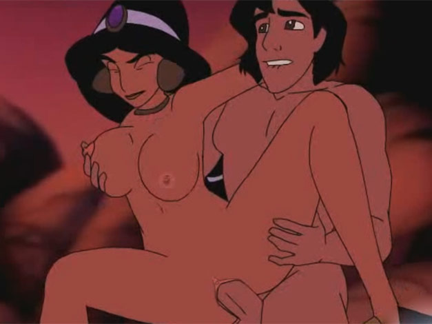 Disney porn video clip where Jasmine gets nailed by Aladdin