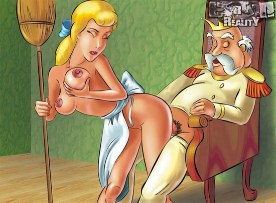 First Cinderella cartoon porn. Nasty sisters suck on Prince`s cock to please ...