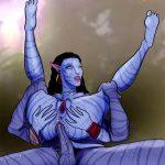 Hot Avatar cartoon porn on Pandora planet