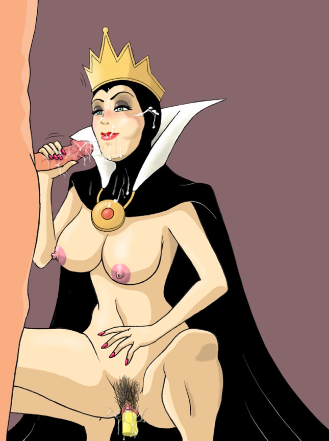 Queen Grimhilde is eating cum