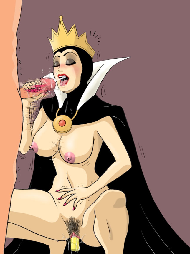 Queen Grimhilde is jerking off