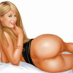 Nude Paris Hilton dying to swallow your huge meat