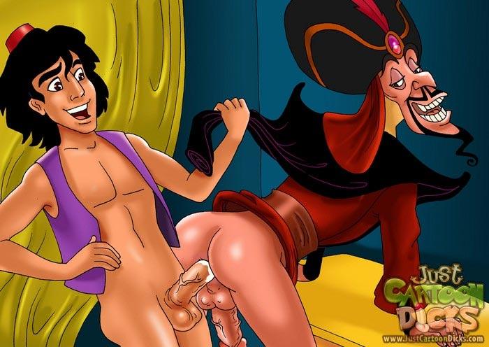 Aladdin gay cartoon porn